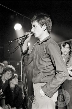 Ian Curtis by Martin O'Neill, Manchester, 1979