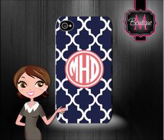 Iphone 4/4s, Iphone 5/5s & 5c, Ipod 4, Ipod 5 Premium Case, Custom Monogrammed and Personalized on Etsy, $29.99