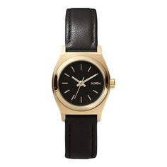Nixon: The Small Time Teller Leather black/gold $100