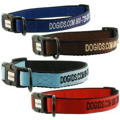 The adjustable Embroidered Solid Color Dog Collar is durable and stylish. Available in multiple sizes and colors to fit your pup's personality. Shop now!
