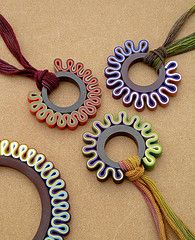 Polymer Clay ribbon necklaces