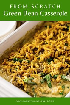 For the best Thanksgiving side dish, you need this homemade green bean casserole! Made with a from scratch cream of mushroom sauce and fresh green beans, this homemade Thanksgiving casserole doesn't get any better than this. You'll also find made ahead green bean casserole directions! #fromscratchgreenbeancasserole #homemadegreenbeancasserole #bestthanksgivingsidedishes #bestthanksgivingrecipes #bestthanksgivingrecipessidedishes Best Thanksgiving Side Dishes, Best Side Dishes, Thanksgiving Casserole, Thanksgiving Recipes, Main Dishes, Fall Dinner Recipes, Holiday Recipes, Fall Recipes, Holiday Meals