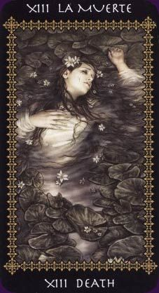 Death from The Favole Tarot  by Spanish illustrator, Victoria Frances.