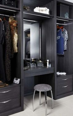 Bedroom Closet Design Built In Wardrobe Drawers 43 Ideas Wardrobe Storage, Wardrobe Closet, Built In Wardrobe, Closet Space, Closet Storage, Hanging Wardrobe, Wardrobe Drawers, Wardrobe With Dressing Table, Dressing Table Design
