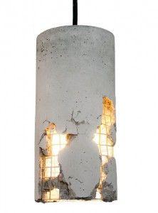 Светильник из армированного бетона