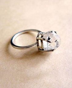 Erica Weiner Herkimer Unpolished Diamond Ring...id love something like this for an engagement ring