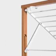 Veggmontert tørkestativ Klapp - 2 nivåer - hvit Wooden Drying Rack, Wall Mounted Drying Rack, Drying Rack Laundry, Clothes Drying Racks, Industrial Furniture, Diy Furniture, Paris Home, Home Storage Solutions, Wooden Projects