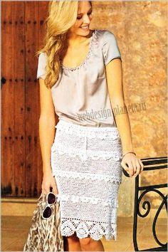 Falda blanca (ganchillo)