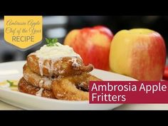 Ambrosia Apple Fritters - Ambrosia Apples #Contest win a getaway in the #Okanagan. Enter today! Contest ends March 15th, 2017 #recipes #Canada