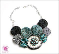 Zipper necklace Made by Sanita Fijan