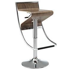 Zee Commercial Grade Modern Bar / Counter Stool Walnut