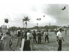 Photographer, Ms. Arosemena took this photo of President Carter leaving Panama in his helicopter. When developed, it showed a UFO.. There were many sightings around that time there. Ancient Aliens, Ufo, Panama, Presidents, Concert, Panama Hat, Concerts, Panama City