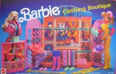Barbie CLOTHING BOUTIQUE Playset w COUNTER, Jewelry, Accessories & MORE! (1990 Arco Toys, Mattel) by Arco Toys, Mattel. $229.99