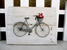 Vintage Bicycle String Art by CherishbyNT on Etsy