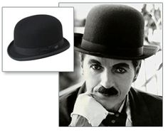 "Charlie Chaplin's bowler hat is illustrated in ""Happy Birthday Madame Chapeau"" written by Andrea Beaty."