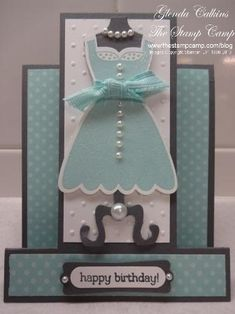 Stampin Up! All Dressed Up by Glenda Calkins - Cards and Paper Crafts at Splitcoaststampers