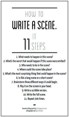 How to write a scene