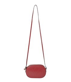 Valentino Red Leather Logo-Go Bag