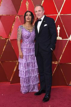 Salma Hayek Photos - Salma Hayek (L) and François-Henri Pinault attends the 90th Annual Academy Awards at Hollywood & Highland Center on March 4, 2018 in Hollywood, California. - 90th Annual Academy Awards - Arrivals