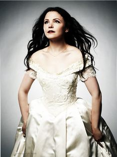 Once Upon a Time - Snow White's off the shoulder dress... Disney should add this to their bridal collection