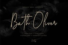 Bath Oliver Font | 40% OFF by Chocotype on @creativemarket