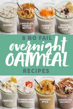 Get all the info you need to make awesome overnight oats, plus EIGHT fool-proof overnight oatmeal recipes you should try! Get all the info you need to make awesome overnight oats, plus EIGHT fool-proof overnight oatmeal recipes you should try! Overnight Oats Receita, Vanilla Overnight Oats, Overnight Oats In A Jar, Healthy Overnight Oats, Overnite Oats, Best Overnight Oatmeal Recipe, Overnight Oats Greek Yogurt, Overnight Steel Cut Oats, Overnight Oats Protein Powder