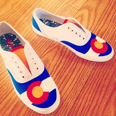 Colorado flag canvas shoes DIY