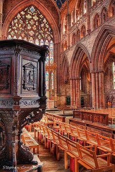 The Pulpit of Carlisle Cathedral, Cumbria, England by Light+Shade Cumbria, Lake District, Classical Architecture, Architecture Details, Carlisle England, My Father's House, Heavenly Places, Cathedral Church, Place Of Worship