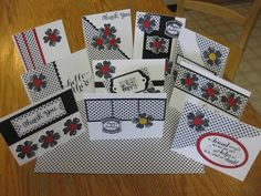 One Sheet Wonder and Back to Black DSP One Sheet Wonder and Back to Black DSP Flower Shop Stamp Set and various sentiments by Jan Farring - no template but looks familiar. Will have to find.