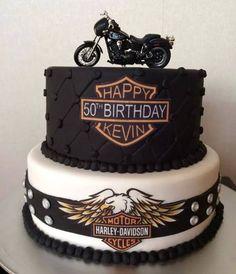 Harley Davidson Cake, Motorbike Birthday Cake: