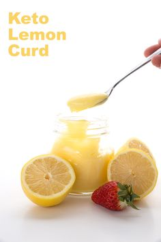 This low carb lemon curd is creamy, dreamy, lemony stuff. I've found a new easy method that uses whole eggs and makes the best sugar-free lemon curd ever.