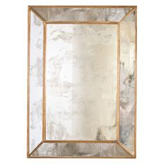Dion gold leafed rectangular antique mirror by Worlds Away. Wall Mirrors With Storage, Small Wall Mirrors, Black Wall Mirror, Lighted Wall Mirror, Rustic Wall Mirrors, Living Room Mirrors, Round Wall Mirror, Mirror Shelves, Mirror Vanity