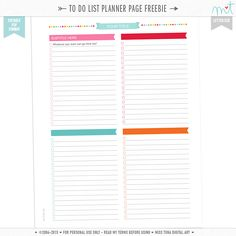 FREE EDITABLE To Do Checklist planner page printable in letter size! Type anything you want into the editable .PDF fields and print away! Enjoy! ♥mt