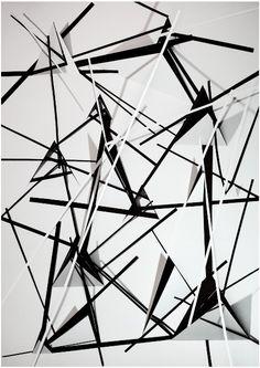 Christiane Feser, Konstrukt 18, 2011, C-Print, 60 x 42 cm Artwork Wall, Metal Artwork, Deconstructivism, Futuristic, Presentation, Contemporary, Abstract, Digital, Business
