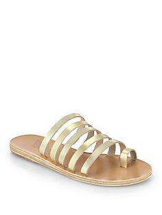 b046f85ac650 Ancient Greek Sandals - Niki Metallic Leather Multi-Strap Sandals