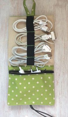 Diy travel cord organizer cord organizing and simple diy m travel cord organizer linen mochi dots solutioingenieria Image collections