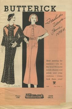 Butterick Fashion News sewing pattern booklet by NewVintageLady