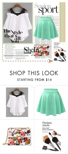 """""""The style!"""" by carolina-herera ❤ liked on Polyvore featuring LE3NO and Gucci"""