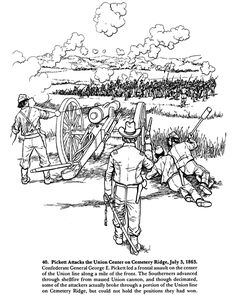A SOLDIER'S LIFE IN THE CIVIL WAR ~~ Coloring Page 4 of 5
