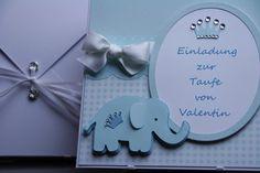 Einladungskarten - Einladungskarte Taufe Junge - ein Designerstück von EvasCardArt bei DaWanda