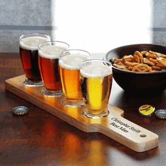 Custom Beer Flight Sampler - For the best man? How cool is this!