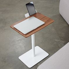 For all the multi-taskers, the Kona Laptop Table designed by has an integrated tablet arm, for when you're feeling ultra productive. Laptop Table, Bench Furniture, Office Table, Floor Chair, Woodworking, Photo And Video, Interior, Instagram Posts, Inspiration
