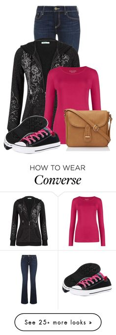 """Untitled #12298"" by nanette-253 on Polyvore featuring True Religion, maurices, M&S Collection and Converse"
