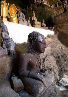 Buddha at Pak Ou Caves Luang Prabang, Laos
