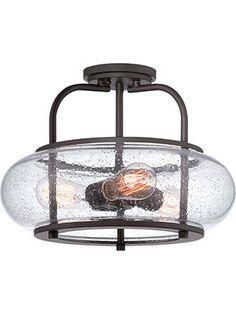 Trilogy Semi-Flush Mount 3-Light Ceiling Light | House of Antique Hardware