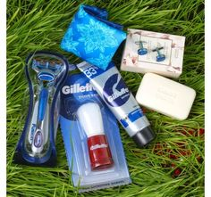 Gillette Combo with Marks Spencer Soap and Polyester Designary Cufflinks Handkerchief