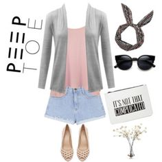 Outfit with Peep Toe Heels