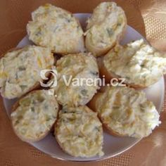 Pomazánka z celeru recept - Vareni.cz No Salt Recipes, Ham, Cheesecake, Muffin, Food And Drink, Appetizers, Cooking, Breakfast, Fitness