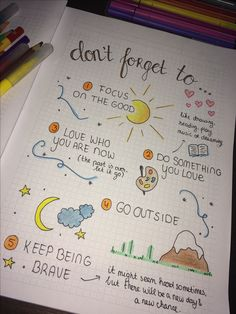 Bullet journal: Don't forget to.. Easy drawing and fun to make!