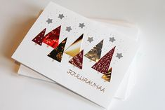 Christmas Cards, Xmas, Washi, Greeting Cards, Gifts, Card Ideas, Diy Ideas, Inspiration, Hand Crafts